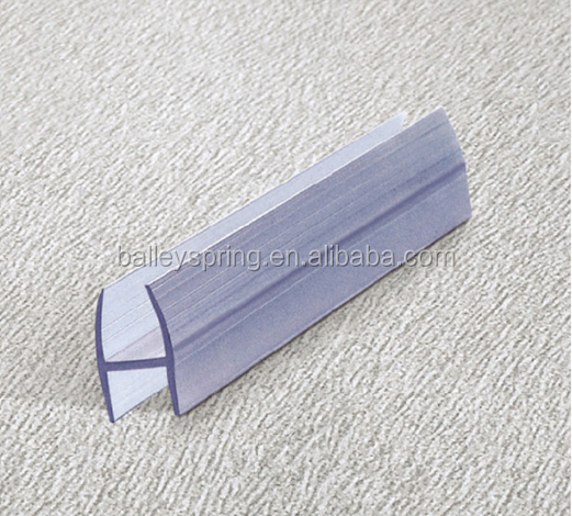 B0010rubber chamfer strip Pvc silicon glass shower door plastic seal strip