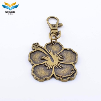 antique metal women handbag key chain ornaments plate with chain for purse and bag supplier china