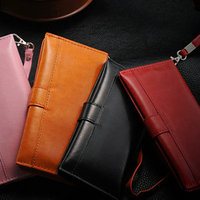 Fashion leather wallet case for iphone 5 with 3 credit card slots , for iphone 5s leather case , handbag