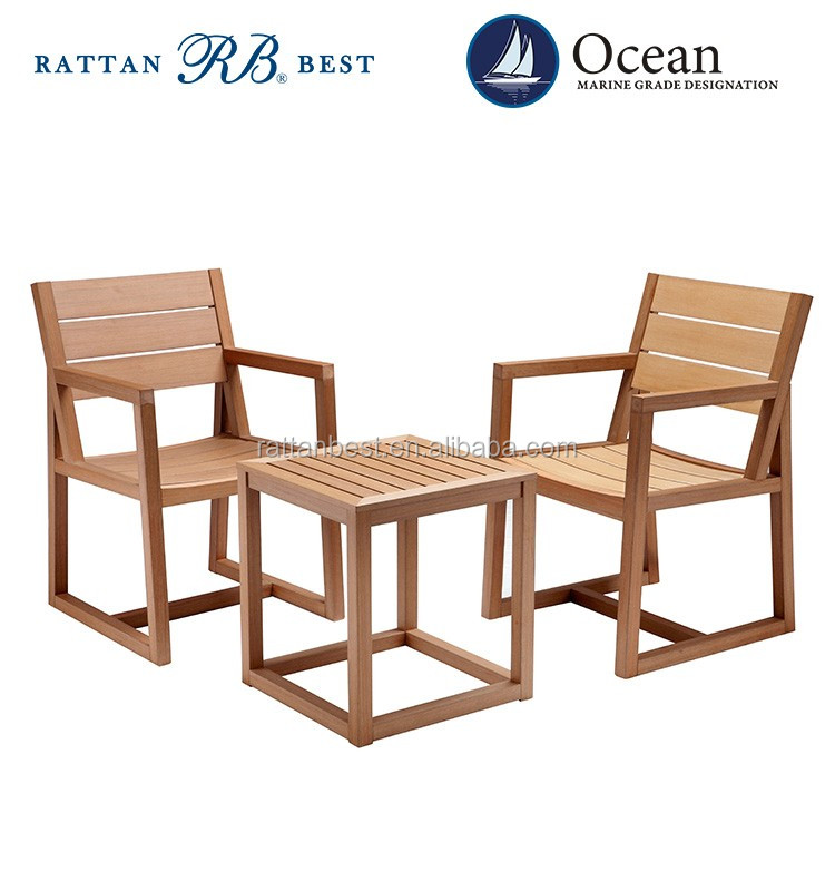 plastic wood table and chair used patio furniture