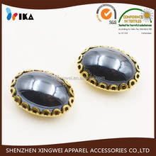 loyal black sewing resin bead for decorating dress