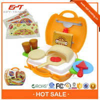 New product plastic food toy children pretend play pizza toy