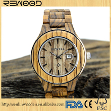 Fashion Natural wood watch brand your own design quartz wrist mens watches wooden watch