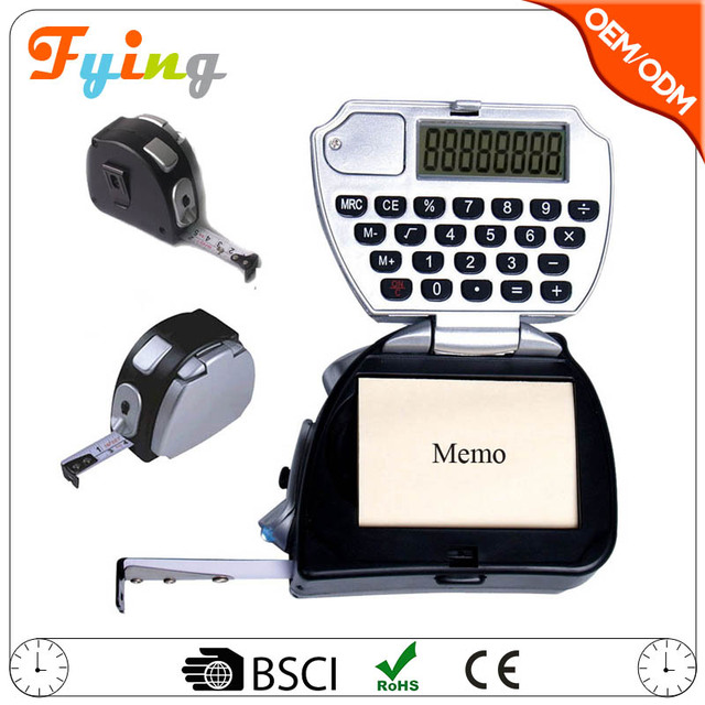 hot 8 digit electronic multifunctional calculator wholesale with measure tape and lights