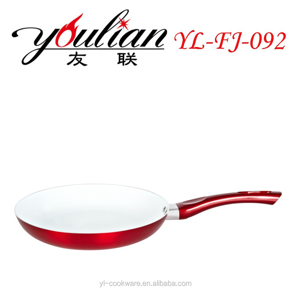 aluminum ceramic non-stick outer Metallic Paint fry pan kithchen aid tools