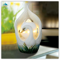 Decorative items for living room white swan indoor ball fountain Home decoration