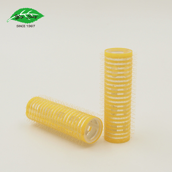 Yellow Ionic Thermal Hair Rollers Self Grip in Size 18mmx 61mm