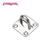 BSCI Approved Factory Price Hot Sale AISI 304 or 316 Stainless Steel Square Pad Eye Square Eye Plated Pad Boat Sailing Rigging