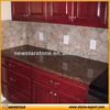 Brown Granite Kitchen Worktop for Red Wooden Cabinet