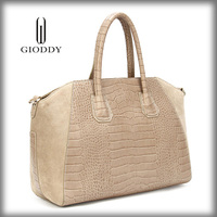 New products 2014 China ostrich embossed leather handbags