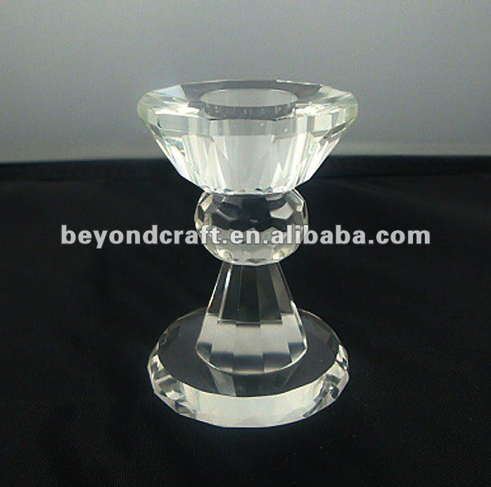 Small size cheap crystal candlestick holder,cheap candle holder