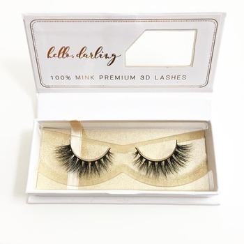 2017 popular design manufactory premium 3D faux mink false eyelash with custom box