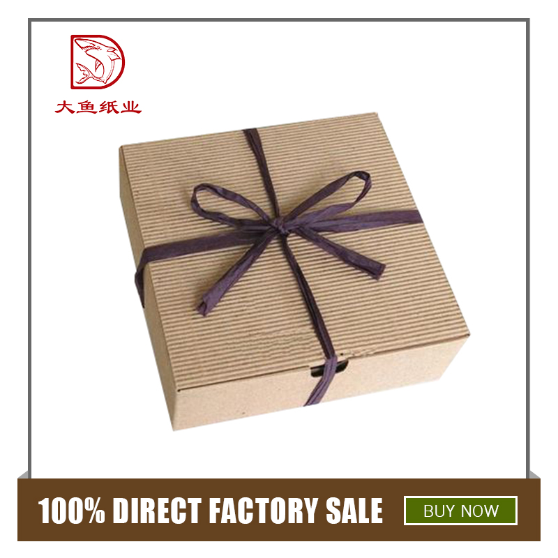 Customized size creative corrugated packing gift box with logo