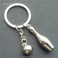 Bowling metal keychains, Creative Znic Alloy keychains, Bowling metal keyrings for promotion