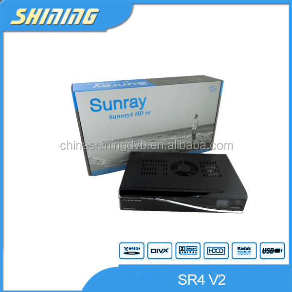 2016 strong linux hd decoder for card sharing sunray sr4 with triple turn DVB-S(S2)/C/T2 wifi inside sim card slot a8p&2.20