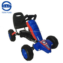 Funny kids pedal go kart with hand brake