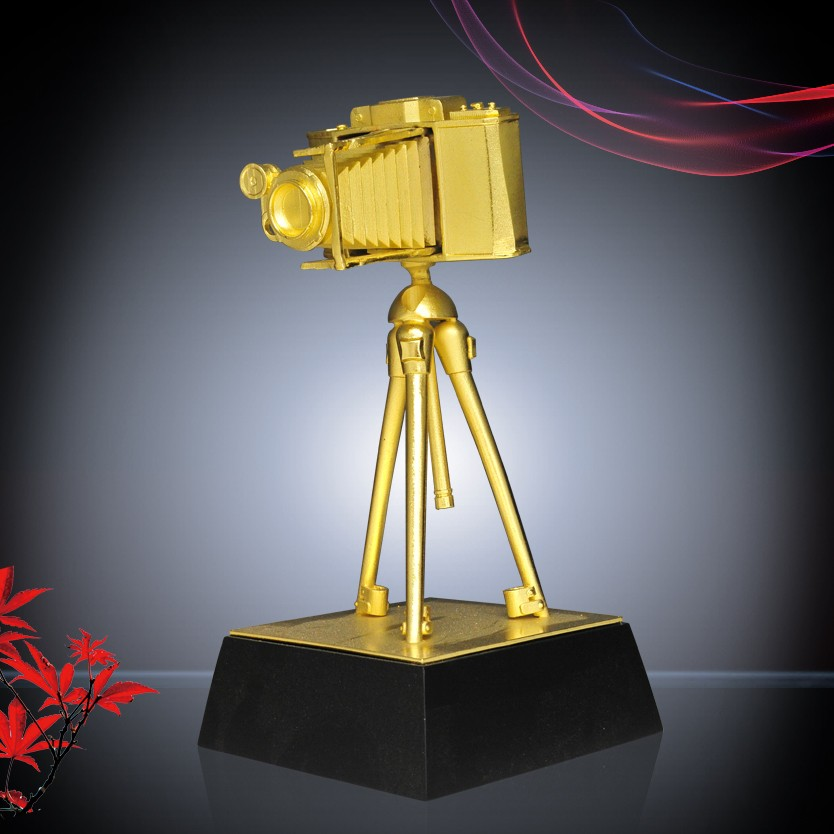 Custom metal Camera Trophy award