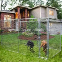 galvanized chain link fence (dog cage)