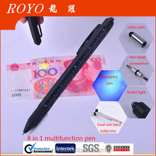High quality new design 8 In 1 Multifunction metal Tool Pen