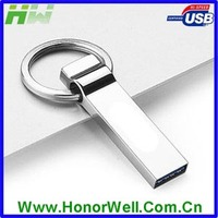 Metal Pendrive Promotion Key Ring Usb Flash Drive with Customized Logo