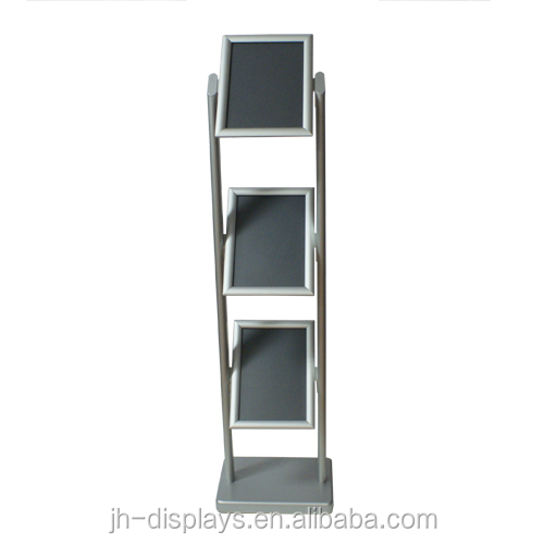 new design brochure holder with snap frame poster stands