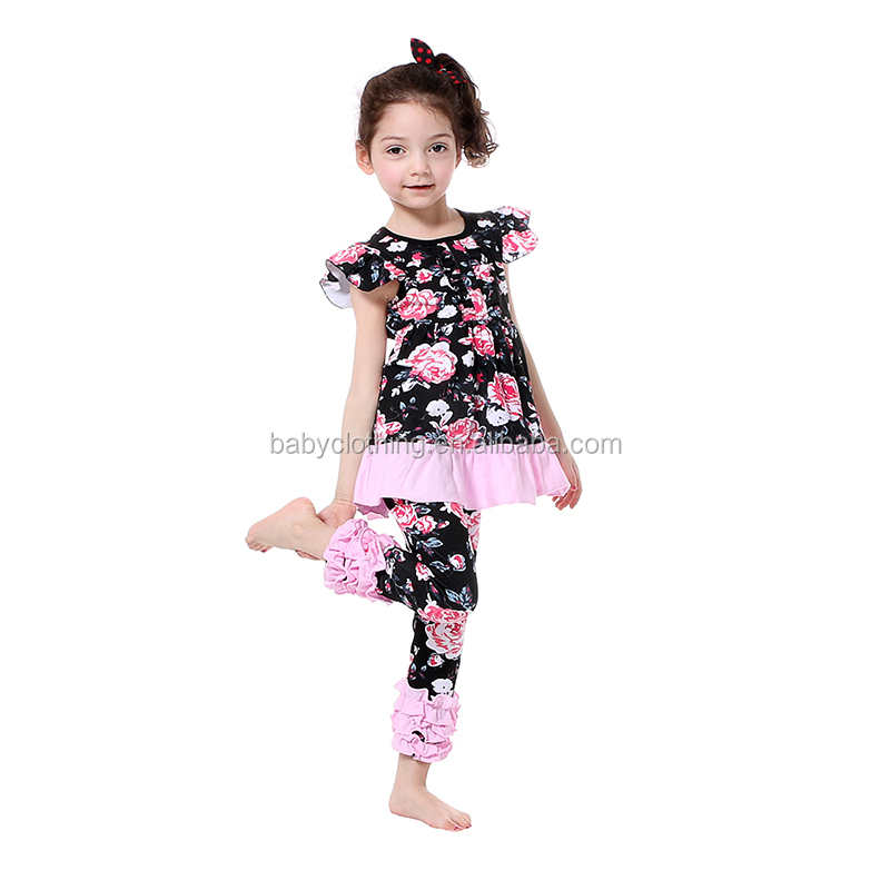 kids clothing floral summber bulk wholesale kids clothing