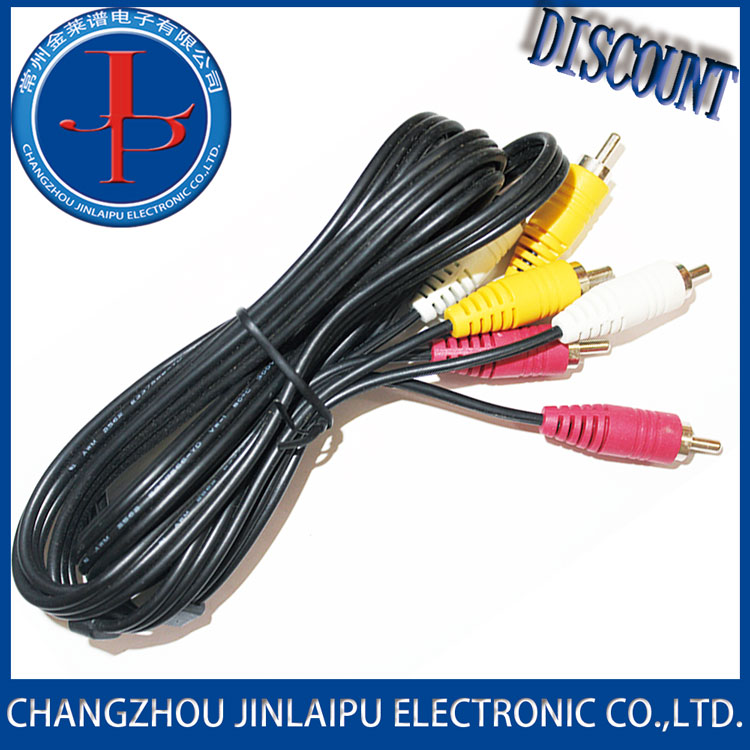Jinlaipu male rca cable plug harness assembly/home appliance wire with A Discount