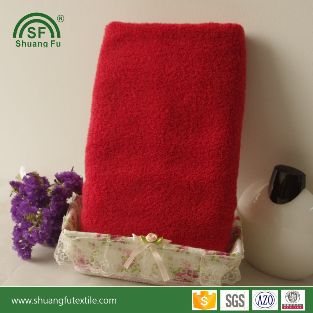 Wedding Red Color Cotton Gift Towels