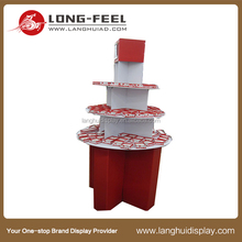 Customized cheap Promotion cardboard pos cardboard cupcake display stand