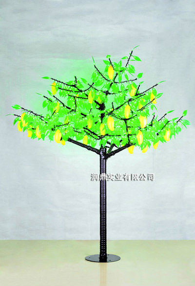 LED peach orange mango apple kiwi cherry fruit tree landscape lighting