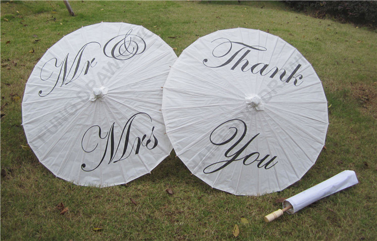 Chinese wedding decoration printed paper umbrella
