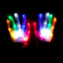 finger led gloves