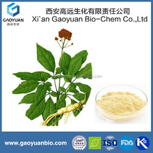 Panax ginseng leaf extract(80%, CP Standard) Supplied by Gaoyuan