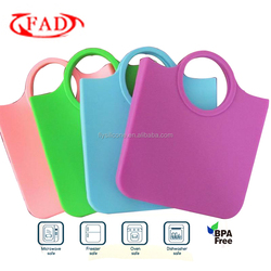 Popular Fashion Color Durable Waterproof Silicone Hand Bag