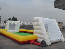 2017 outdoor inflatable football game,inflatable soapy soccer field