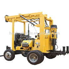 Water well drilling rig Diesel Engine Driven 230m 13Bar 5T cheapest rigs for sale truck mounted