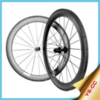 60mm Tubular 2015 YISHUNBIKE Racing bicycle accessorie Cheap wheels 700c road bike wheels UD carbon wheel with Chosen Hubs CC60T