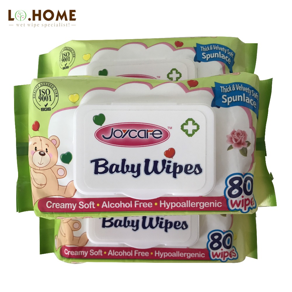 hot sale disposable natural cotton refreshing baby wet wipes
