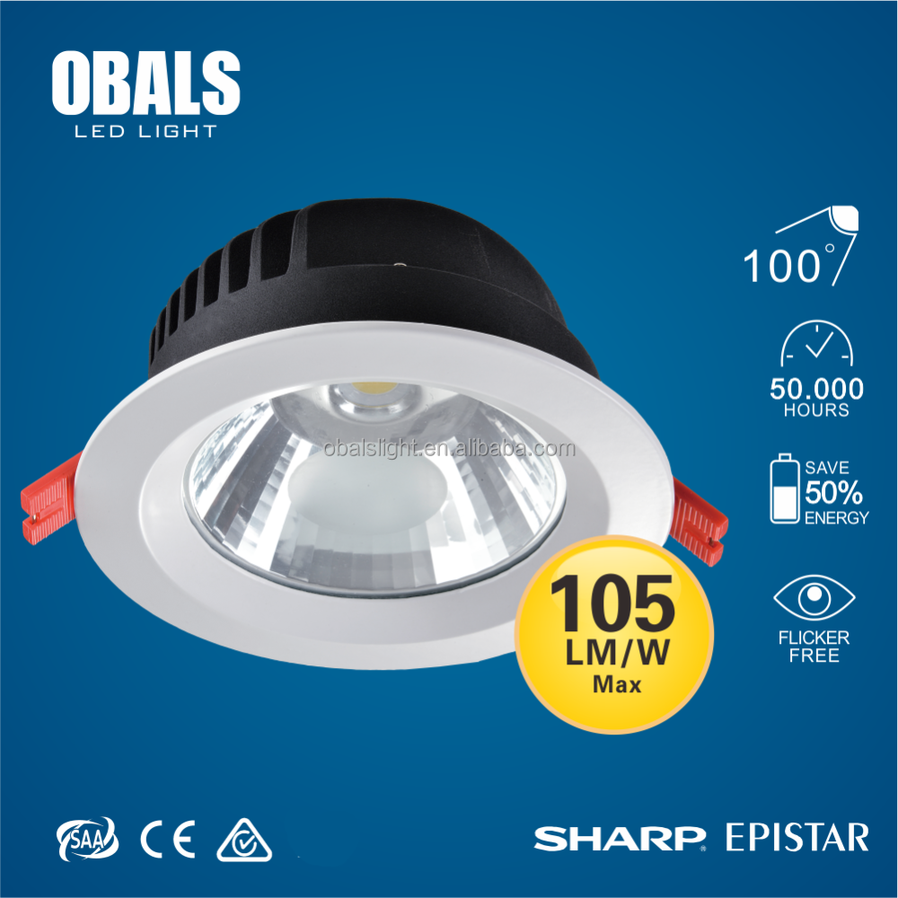 ip20 trimless recessed 4 inch 9w halogen ultra thin led downlight
