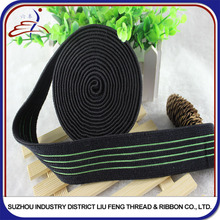 Wholesale Polyester Woven Decorative Striped Elastic Ribbon