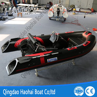 RIB390C 3.9m inflatable rigid double deep v hull fiberglass fishing boat