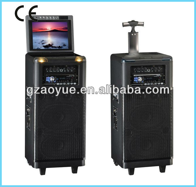 HI-FI portable outdoor speaker with DVD CD screen fm mp3
