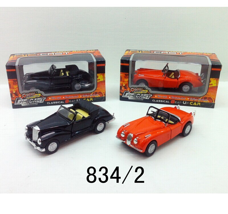 Cheap kids antique metal classic car toys,small car pull back diecast toys cars