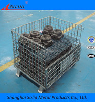 Warehouse Storage Collapsible and Stackable large wire mesh container