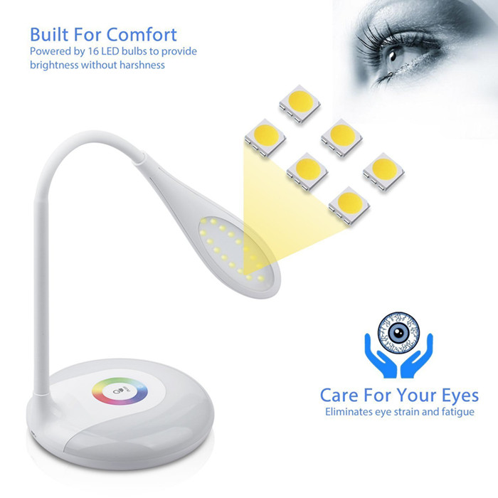Goldmore New Design Touch Control Flexible Eye Protection LED Desk Lamp for Kids