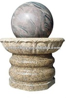 rotating running flotating stone granite sphere ball fountain rolling sphere fountain