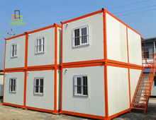 Movable container house for mining camp prefab housing construction