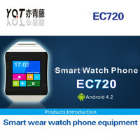 2014 Latest Waterproof Android Smart Watch Phone MTK6572 for IOS