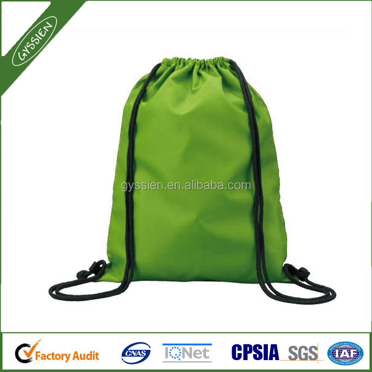 Polyester drawstring bag / drawstring backpack for promotion