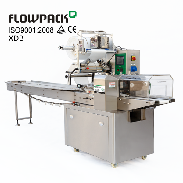 Baking Factory Food Packaging Equipment Horizontal Pillow Wrapper Machine Flow <strong>Pack</strong>